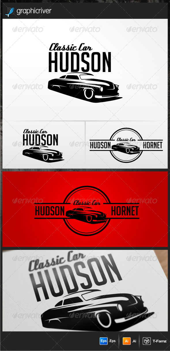 Classic Car Hudson Logo Templates - Objects Logo Templates