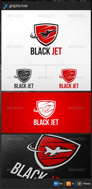 Black Jet  - Objects Logo Templates