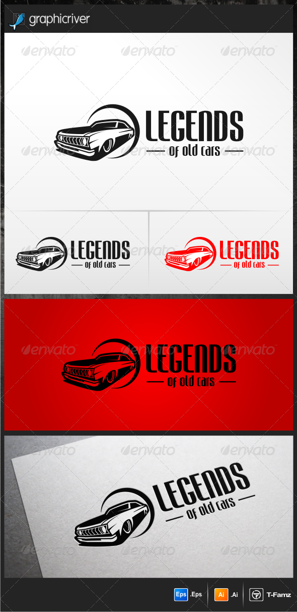 Legends of Old Cars Logo Templates - Objects Logo Templates