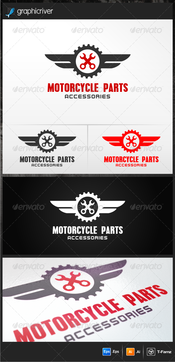 Motorcycle Parts - Objects Logo Templates