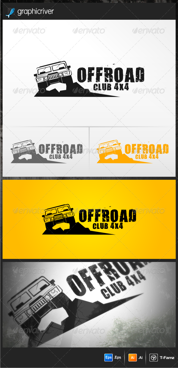 Offroad Club 4x4 Logo Templates - Objects Logo Templates
