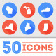 50 Flat U.S. State Icons - GraphicRiver Item for Sale