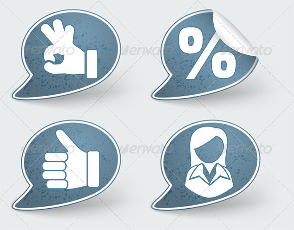 Collect Sticker with Hand and Woman Icon - Retail Commercial / Shopping