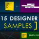 Download 15 Designer Samples (Pack) from VideHive