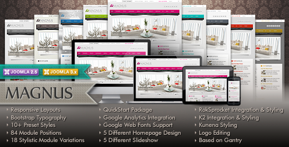 Magnus Multipurpose Joomla Theme