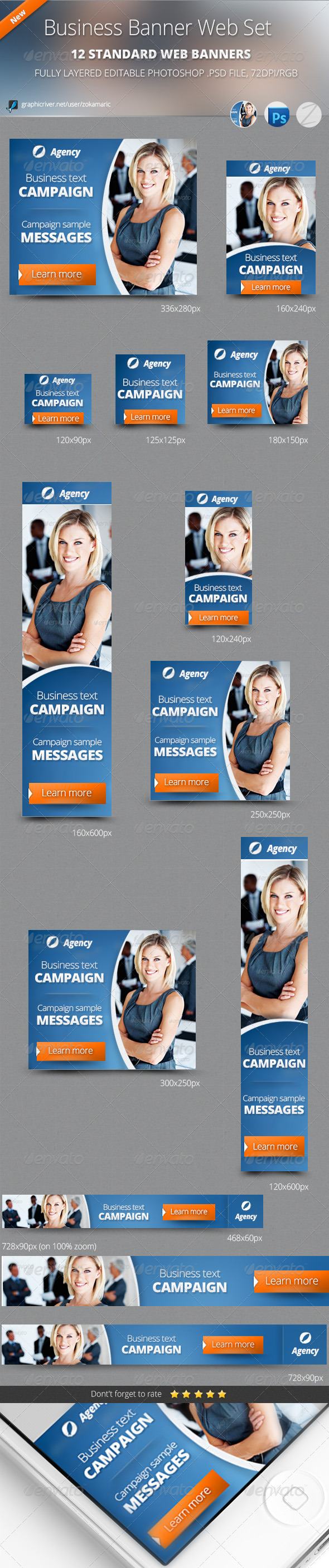 Business Banner Web Set  - Banners & Ads Web Elements