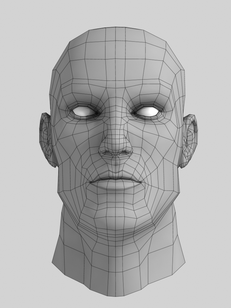 Male Head Base Mesh by JoystickJunky | 3DOcean