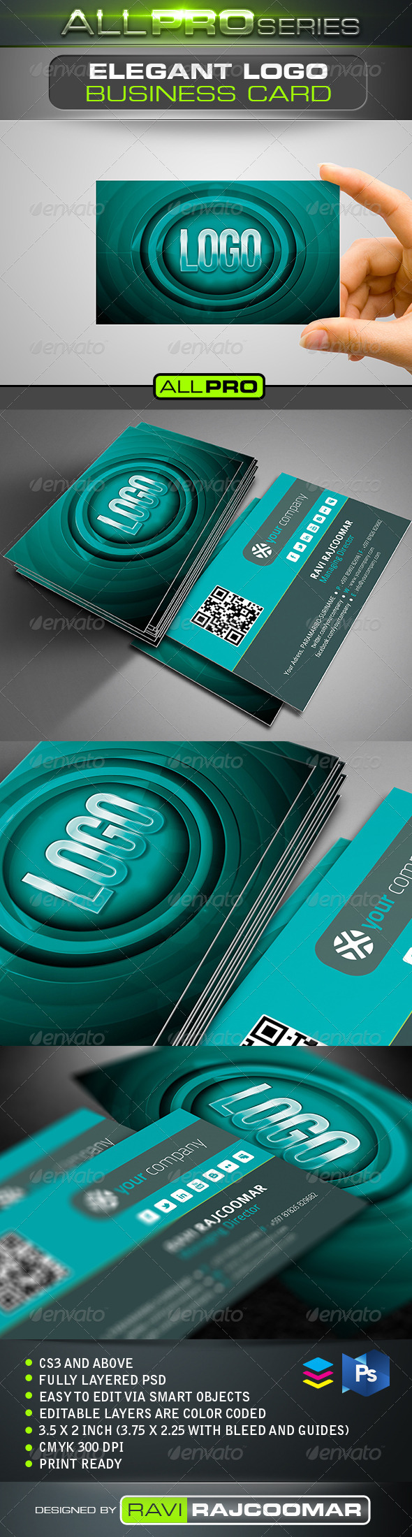 Elegant Logo Business Card - Business Cards Print Templates
