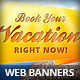 Travel Agency Vacation Web Banners - GraphicRiver Item for Sale