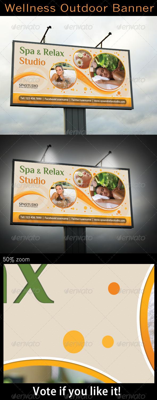Spa Studio Outdoor Banner - Signage Print Templates
