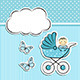 Baby Boy Arrival Announcement - GraphicRiver Item for Sale
