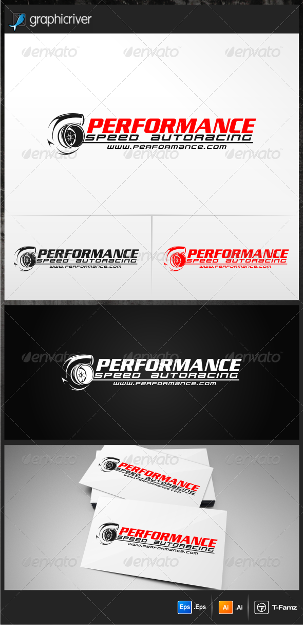 Performance Autoracing Logo Templates - Objects Logo Templates