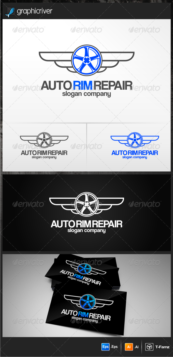Auto Rim Repair Logo Templates - Objects Logo Templates