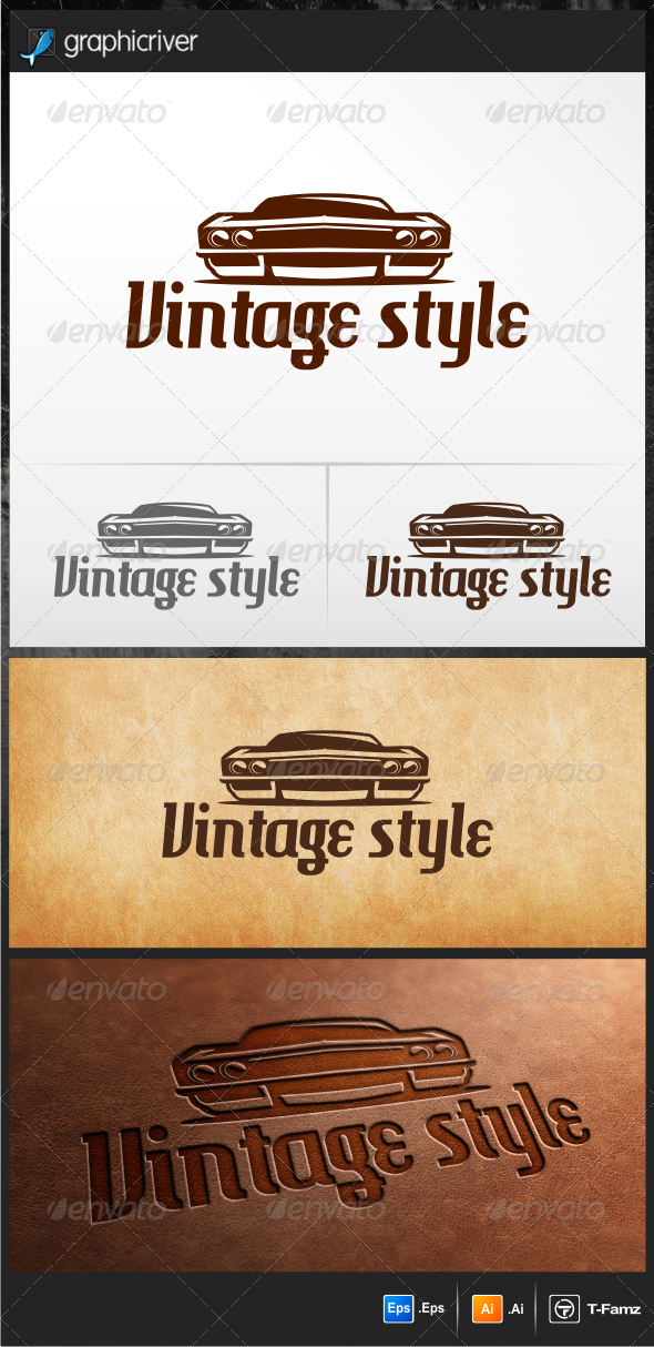 Vintage Style - Objects Logo Templates