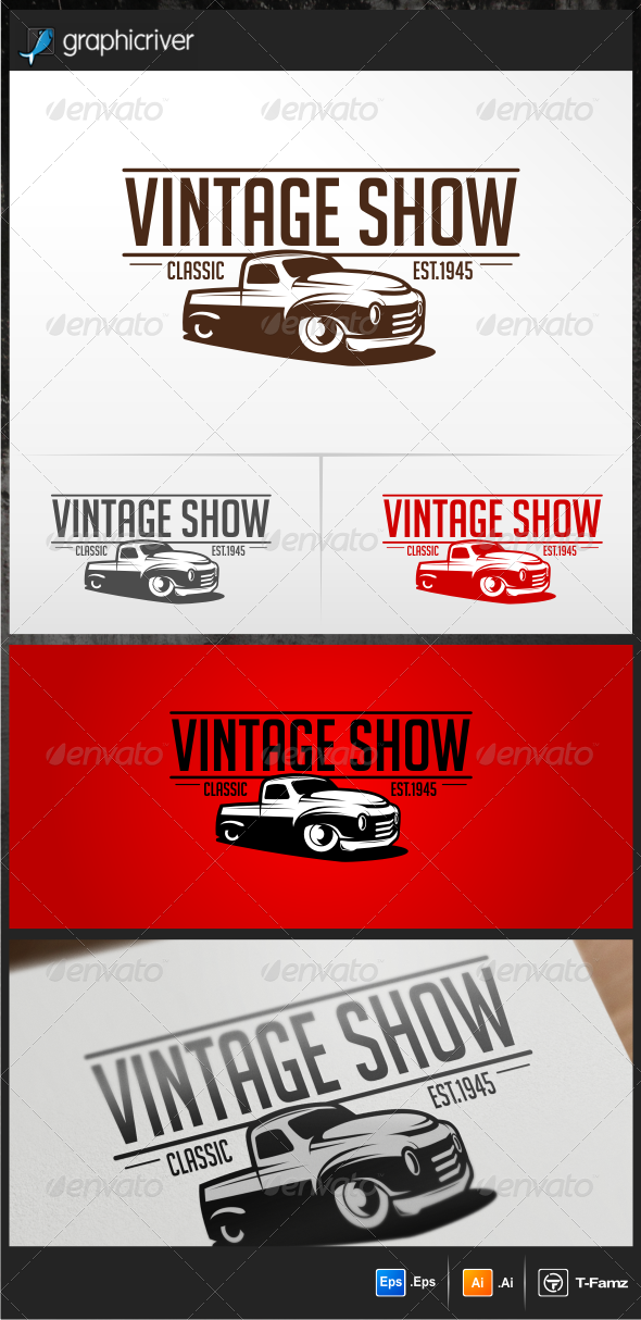 Vintage Show Logo Templates - Objects Logo Templates