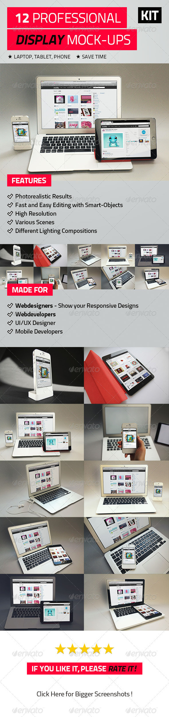 12 Professional Display Mock-Ups - Product Mock-Ups Graphics