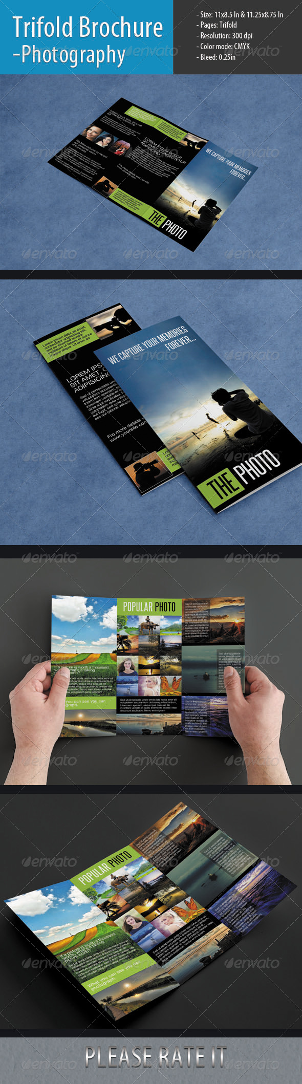 Trifold Brochure For Photography - Informational Brochures