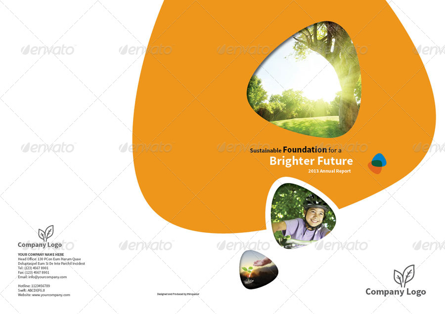 Annual Report Design Template Vol By Thinqueber  Graphicriver
