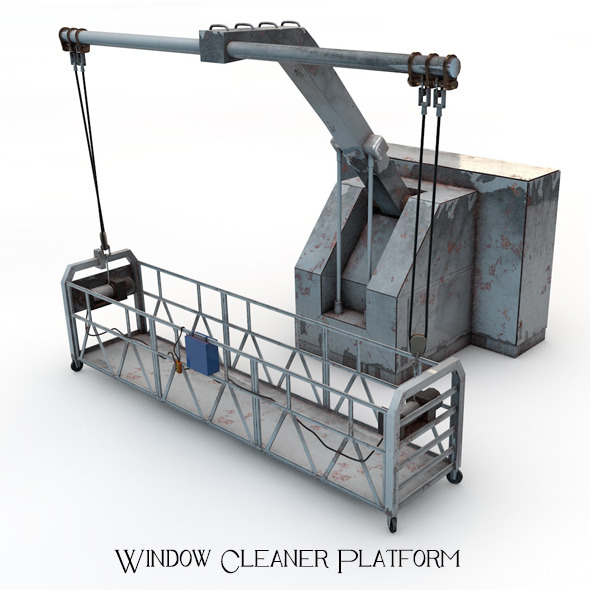 Window Cleaner Platform - 3DOcean Item for Sale