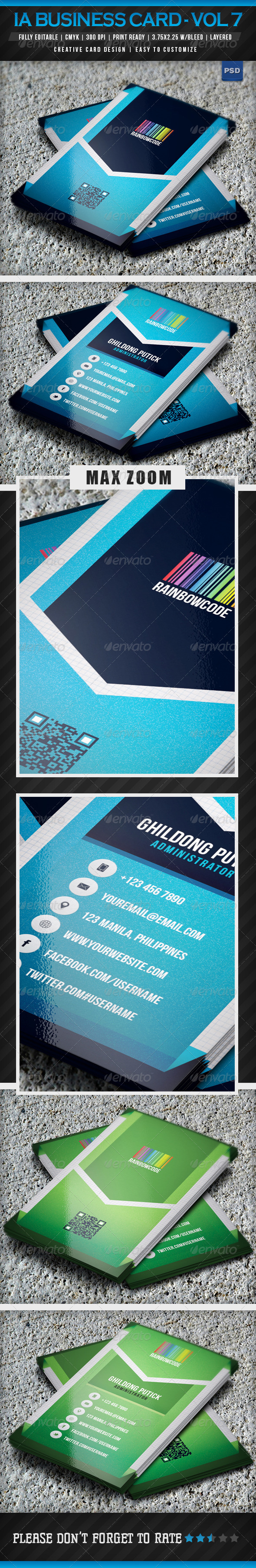 IntenseArtisan Business Card Vol.16 - Corporate Business Cards