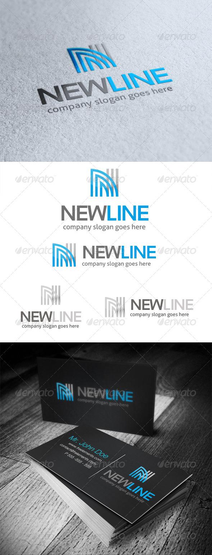 New Line Letter N Logo - Letters Logo Templates