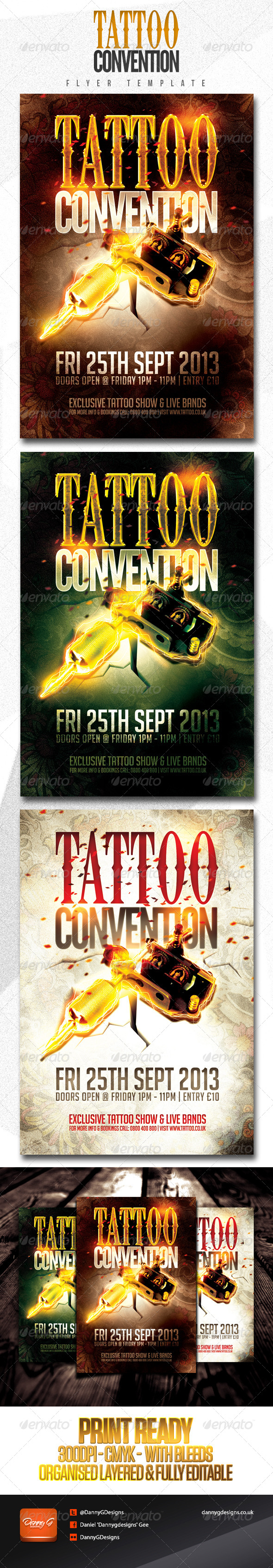 Tattoo Convention Flyer Template - Miscellaneous Events