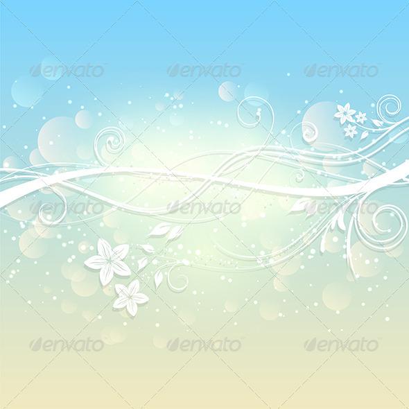 Summer Floral Background - Backgrounds Decorative