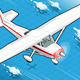 Isometric White Plane in Flight in Front View - GraphicRiver Item for Sale