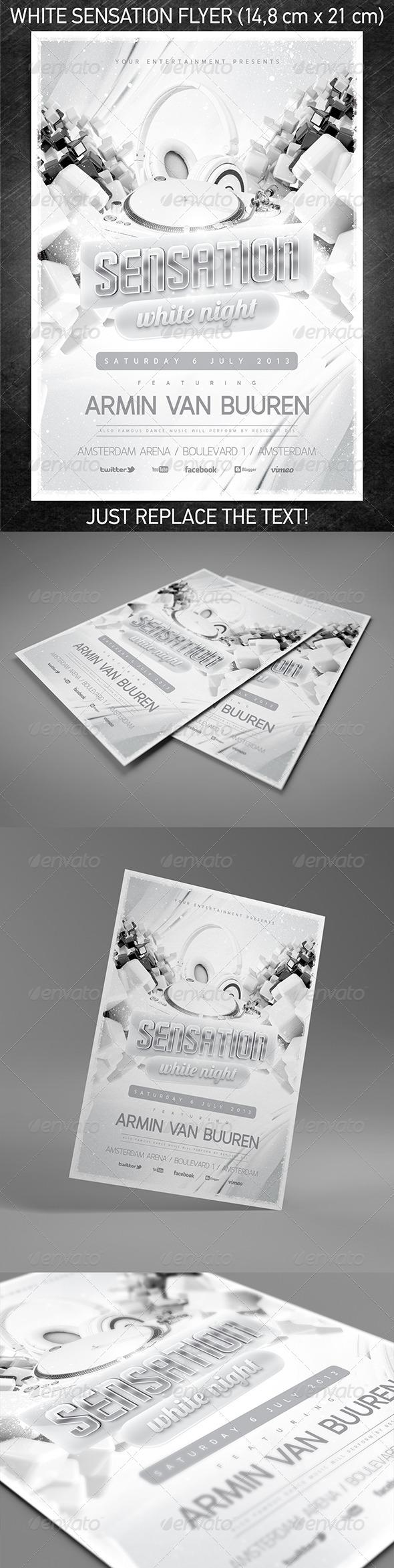 White Sensation Flyer Vol.2 - Clubs & Parties Events