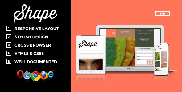 Shape – Professional WordPress Photography Theme