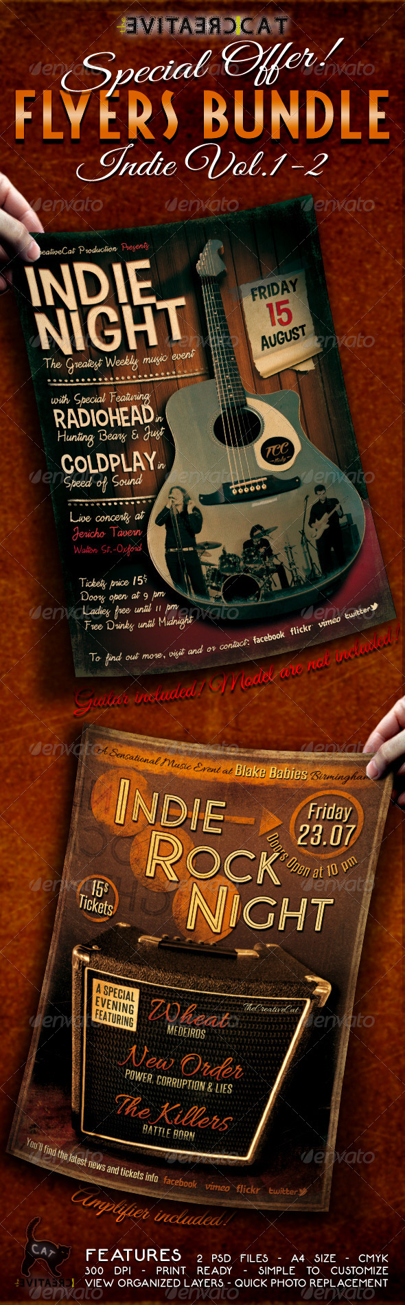 Indie Flyer/Poster Bundle Vol.1-2 - Events Flyers