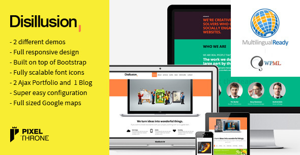 Disillusion – Responsive One Page WordPress Theme