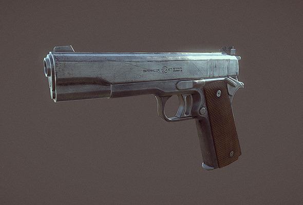 AMT Hardballer Handgun - 3DOcean Item for Sale