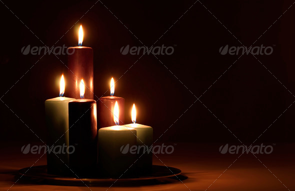 Holiday Candles - Stock Photo - Images