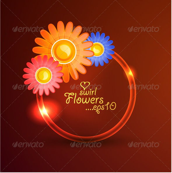 Swirl flower background - Flowers & Plants Nature