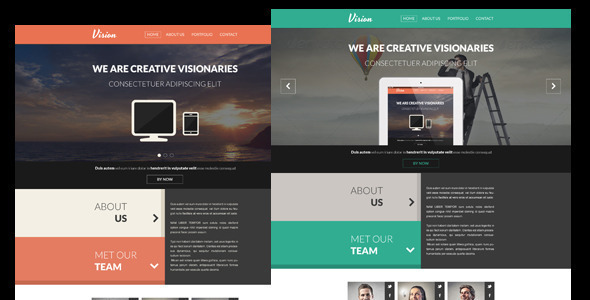 Vision – One Page Flat Portfolio HTML Template