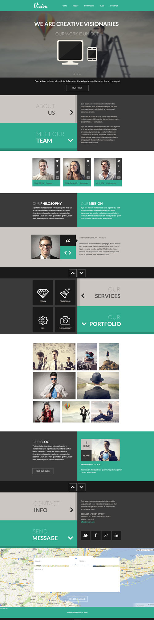 Vision - One Page Flat Portfolio HTML Template by rayoflightt ...