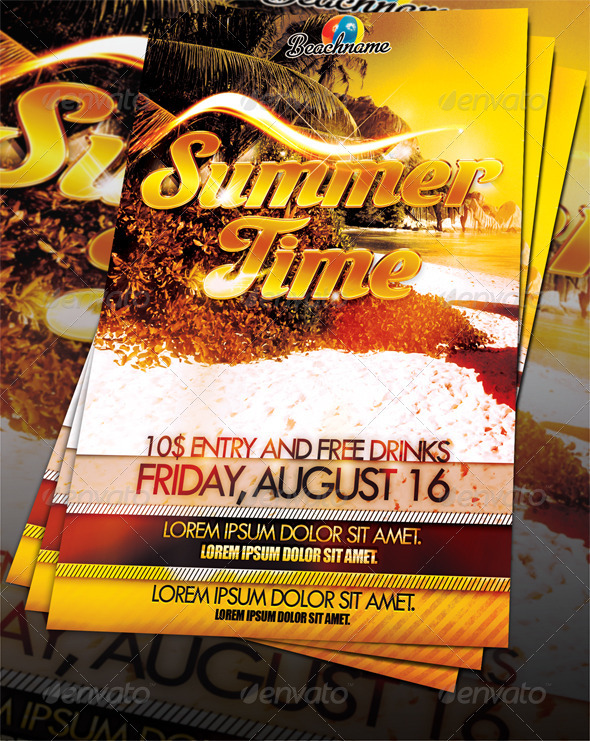 Summertime Party Flyer - Clubs & Parties Events