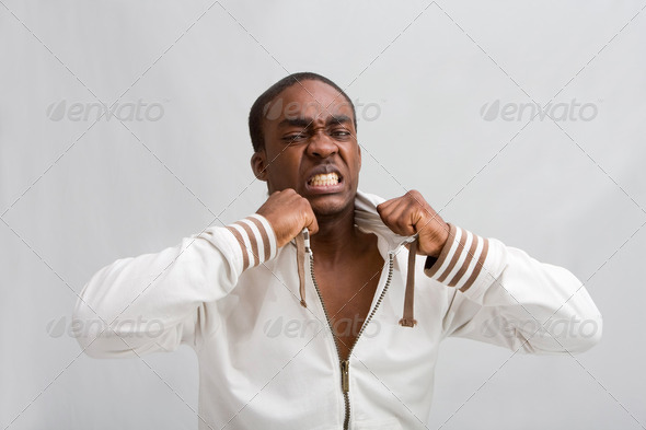 Young angry guy - Stock Photo - Images