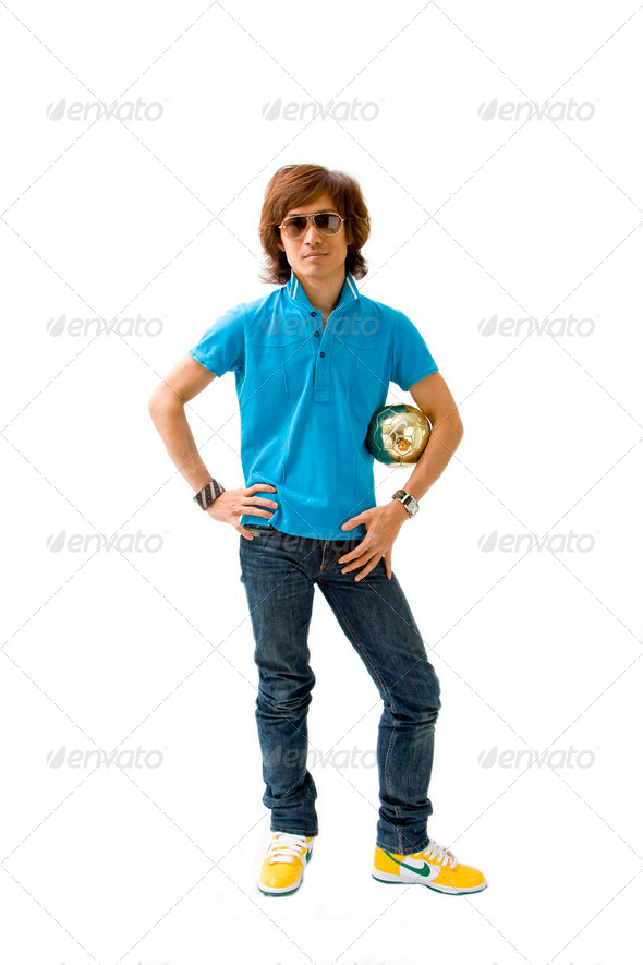 Sporty Asian guy - Stock Photo - Images