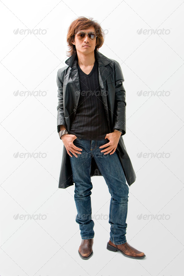 Cool Asian guy - Stock Photo - Images