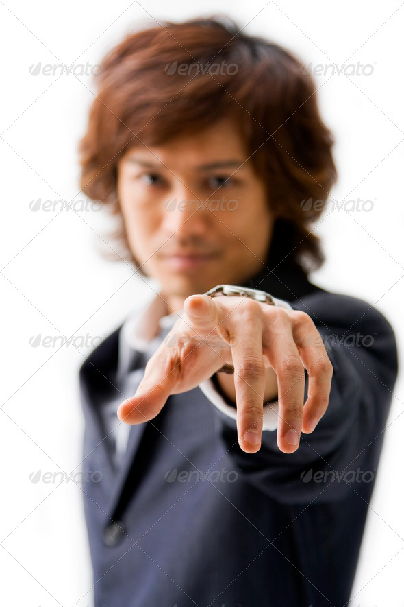 Pointing at you - Stock Photo - Images