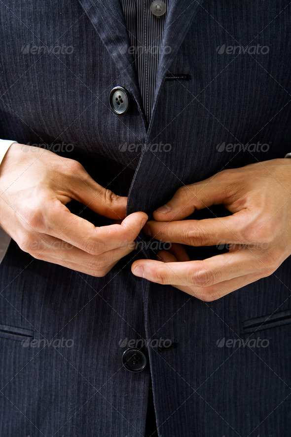Suit and hands - Stock Photo - Images