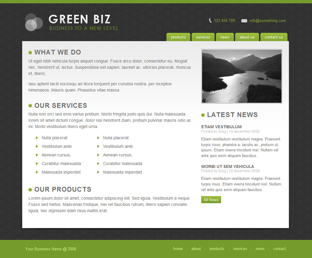 Free Download Green Biz - Business Template Nulled Latest Version