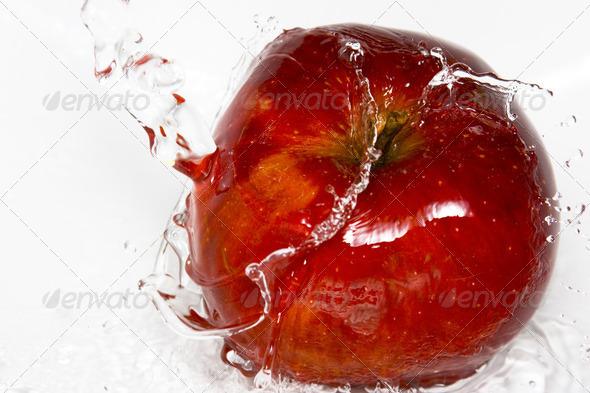 Apple splash - Stock Photo - Images
