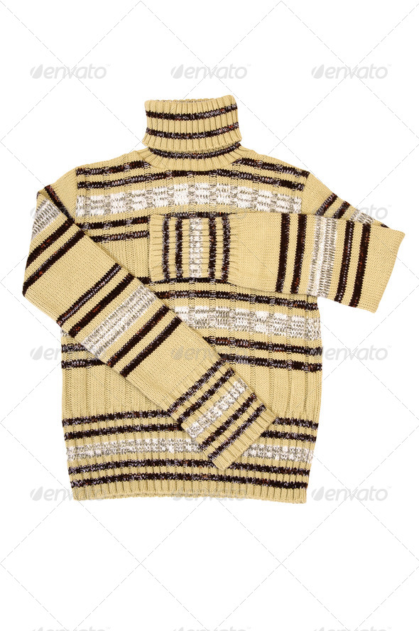 Winter sweater on a white. - Stock Photo - Images
