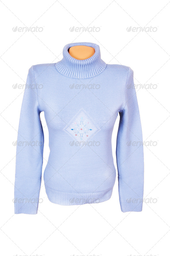 Splendid modern sweater on a white. - Stock Photo - Images