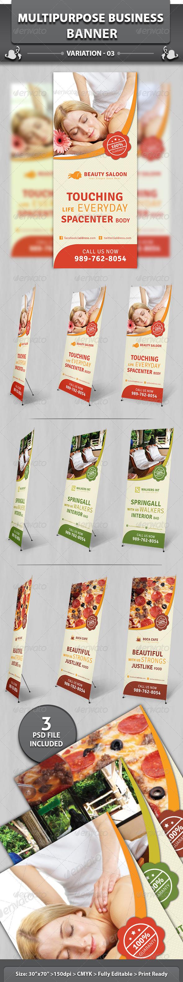 Multipurpose Business Banner | Volume 3 - Signage Print Templates