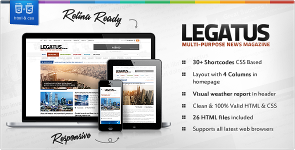 Legatus Responsive Newsmagazine Html Template By Orange Themes