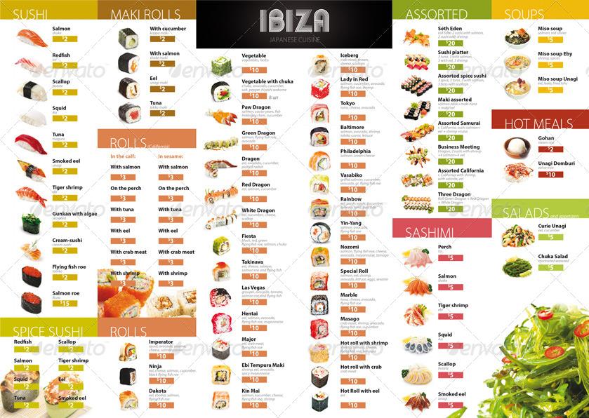 Restaurant menu design by sluap graphicriver for Akina japanese cuisine menu